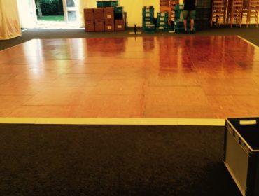 EM Communications wooden dance floor 2